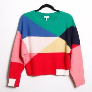 Joie Megu Colorblock Wool Cashmere Knit Sweater XS